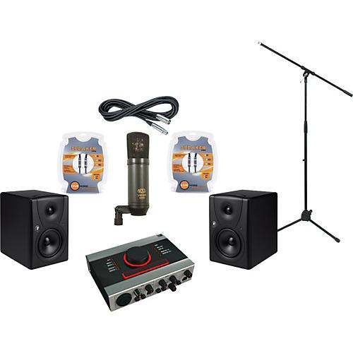 Mackie Native Instruments Audio Kontrol 1 and Mackie MR5 Recording Package