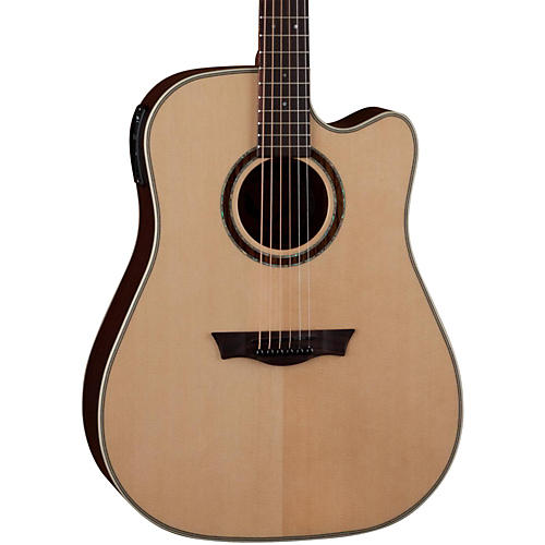 Dean Natural Series Dreadnought Cutaway Acoustic-Electric Guitar with Aphex Natural
