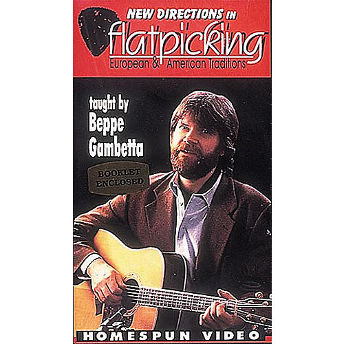 Homespun New Directions in Flatpicking (VHS)-thumbnail