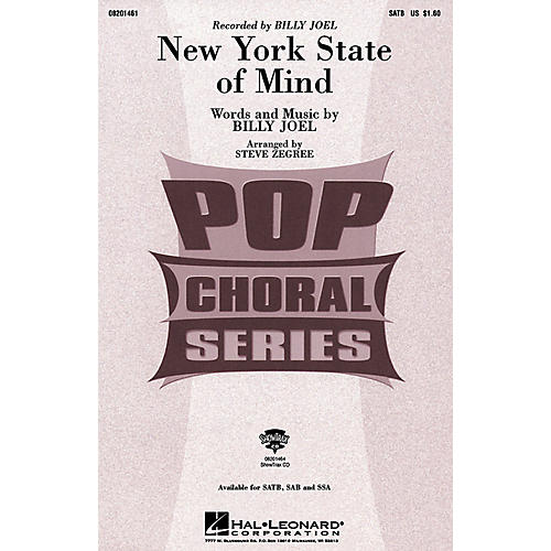 Hal Leonard New York State of Mind (ShowTrax CD) ShowTrax CD by Billy Joel Arranged by Steve Zegree