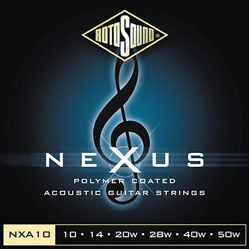 Rotosound Nexus Polymer Extra Light Coated Acoustic Strings-thumbnail