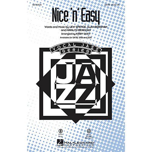 Hal Leonard Nice 'n' Easy SATB by Frank Sinatra arranged by Kirby Shaw