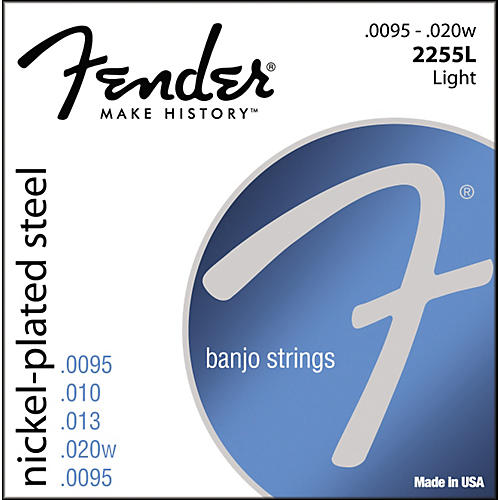 Fender Nickel-Plated Steel Banjo Strings - Light