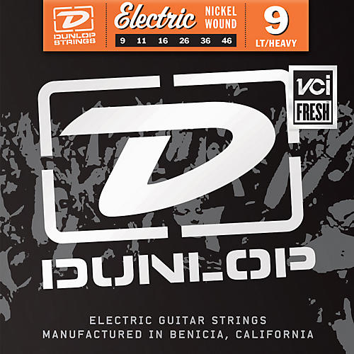 Dunlop Nickel Plated Steel Electric Guitar Strings - Light Top Heavy Bottom 9's