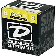 Dunlop Nickel Plated Steel Electric Guitar Strings Extra Light 6-Pack