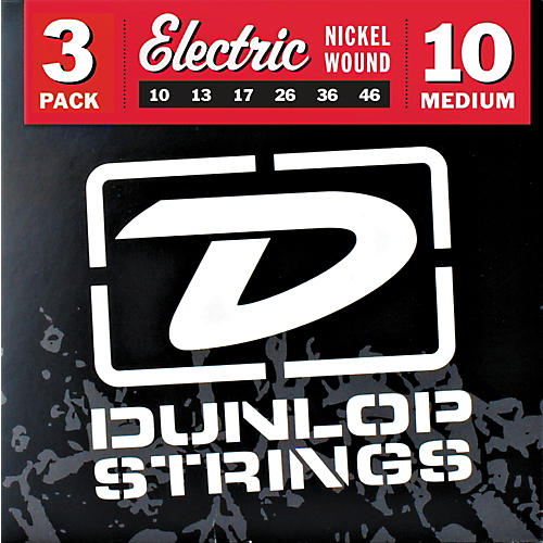 Dunlop Nickel Plated Steel Electric Guitar Strings Medium 3-Pack-thumbnail