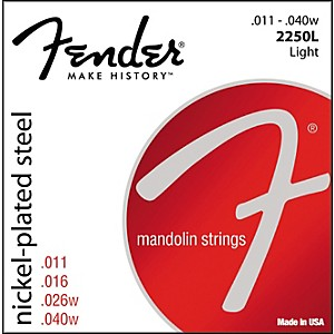 Fender Nickel-Plated Steel Mandolin Strings - Light by Fender