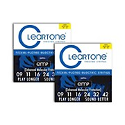 Cleartone Nickel-Plated Super Light Electric Guitar Strings .09 - .42  2-Pack