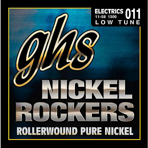 GHS Nickel Rockers Lo Tune SRV Set