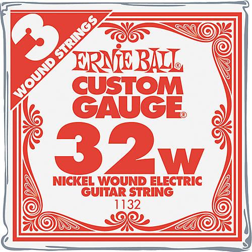 Ernie Ball Nickel Wound Single Guitar Strings 3-Pack .032 Gauge 3-Pack