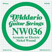 D'Addario Nickel Wound Single String