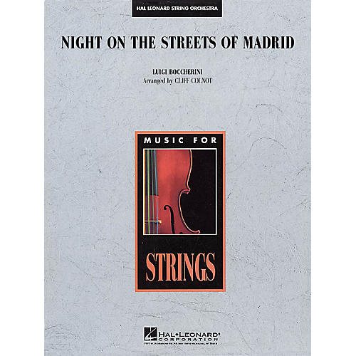 Hal Leonard Night on the Streets of Madrid Music for String Orchestra Series Arranged by Jamin Hoffman