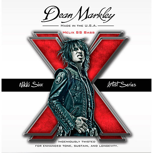 Dean Markley Nikki Sixx Helix HD SS Bass Guitar Strings-thumbnail