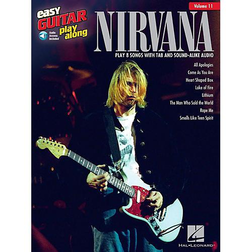 Hal Leonard Nirvana - Easy Guitar Play-Along Volume 11 Book/Audio Online-thumbnail