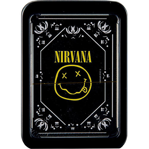 Hal Leonard NIRVANA SMILEY LOGO PLAYING CARDS IN TIN GIFT BOX