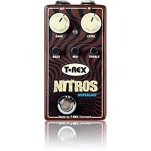 T-Rex Engineering Nitros Hypergain Distortion Guitar Effects Pedal by T Rex Engineering