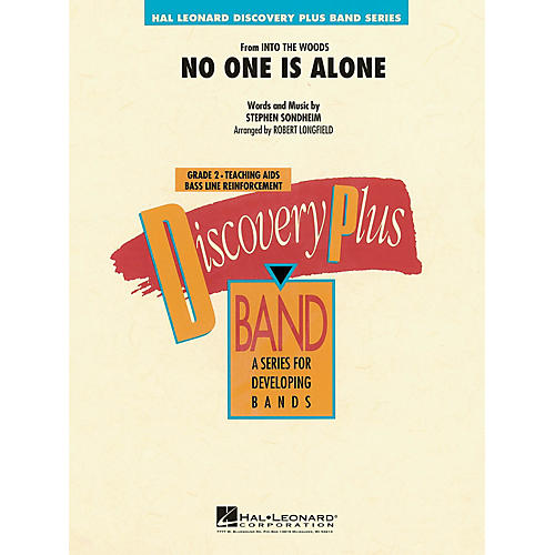 Hal Leonard No One Is Alone (from Into the Woods) - Discovery Plus Band Series Level 2 arranged by Robert Longfield