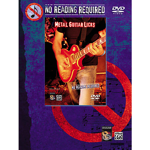 Alfred No Reading Required: Metal Guitar Licks DVD-thumbnail