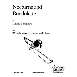 Southern Nocturne and Rondolette Trombone Southern Music Series Composed ... by Southern