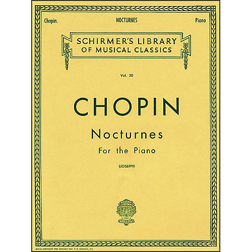 G. Schirmer Nocturnes for Piano Vol 30 By Chopin-thumbnail