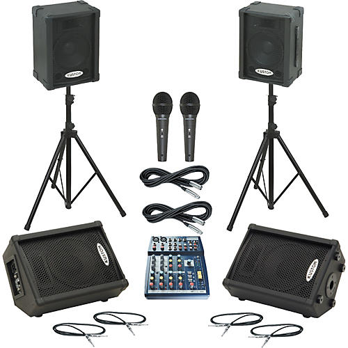 Soundcraft Notepad 102 / KPC10P Mains & Monitors Package