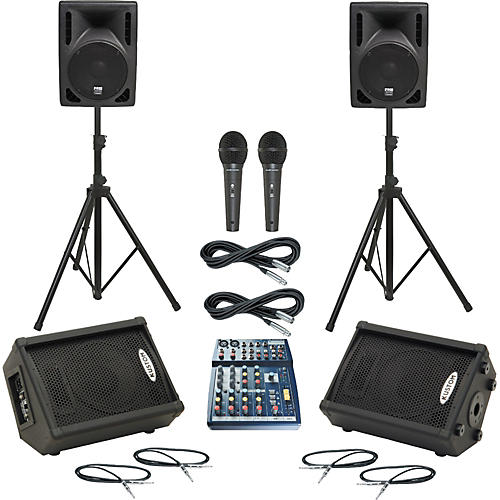 Soundcraft Notepad 102 / RS-410 Mains & Monitors Package