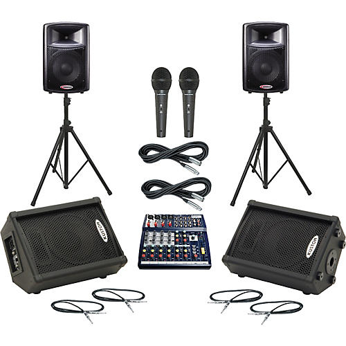 Soundcraft Notepad 124 / APS12 Mains & Monitors Package