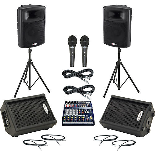 Soundcraft Notepad 124 / APS15 Mains & Monitors Package