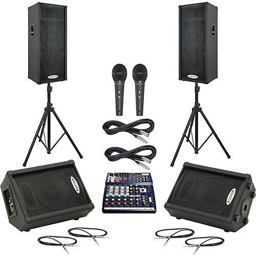 Soundcraft Notepad 124 / KPC215P Mains & Monitors Package