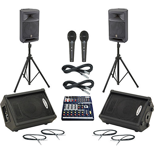 Soundcraft Notepad 124 / MSR250 Mains & Monitors Package