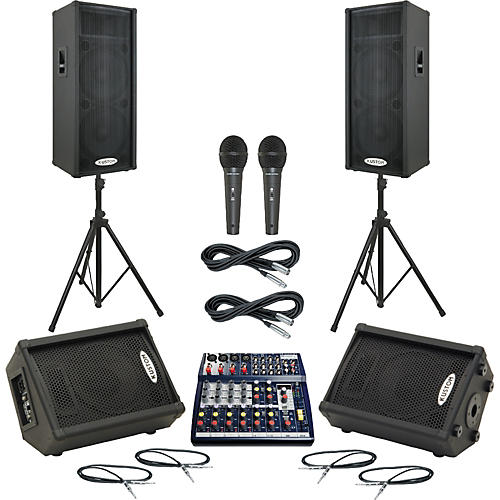 Soundcraft Notepad 124FX / KPC215P Mains & Monitors Package