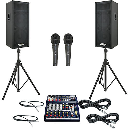 Soundcraft Notepad 124FX / KPC215P PA Package