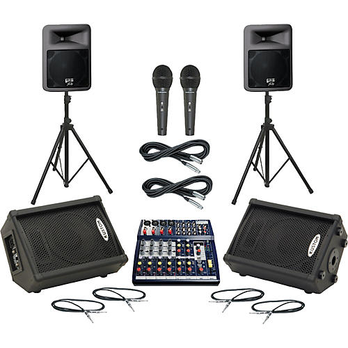Soundcraft Notepad 124FX / PR12D Mains & Monitors Package
