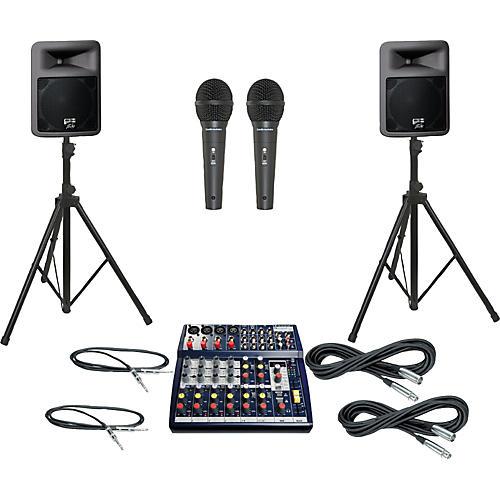 Soundcraft Notepad 124FX / PR12D PA Package