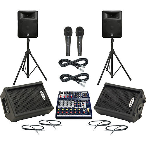 Soundcraft Notepad 124FX / PR15D Mains & Monitors Package