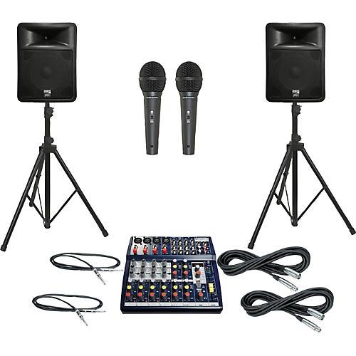 Soundcraft Notepad 124FX / PR15D PA Package