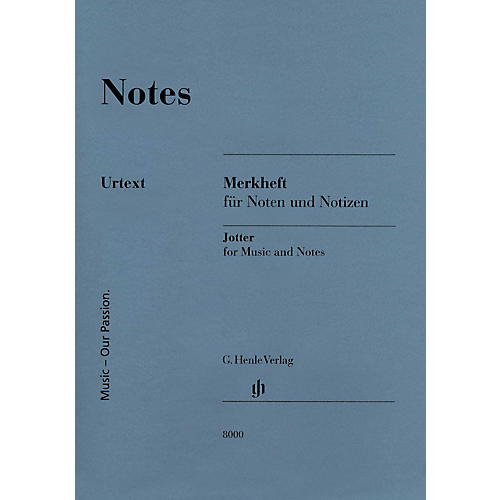 G. Henle Verlag Notes (A Miniature Booklet of 8-Stave Manuscript Paper) Henle Edition Series Softcover
