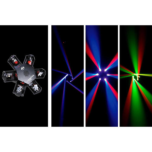 American DJ Nucleus LED - 6-Head Scanning Centerpiece Effect-thumbnail