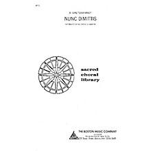 Boston Music Nunc Dimittis SATB Composed by Alexander Gretchaninoff