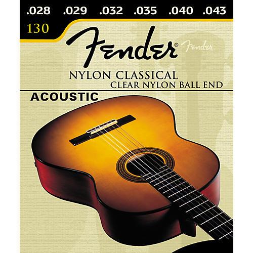 Fender Nylon Classical 130 Clear Silver Ball Acoustic Guitar Strings-thumbnail