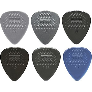 Dunlop Nylon Max Grip Guitar Picks - 12 Pack