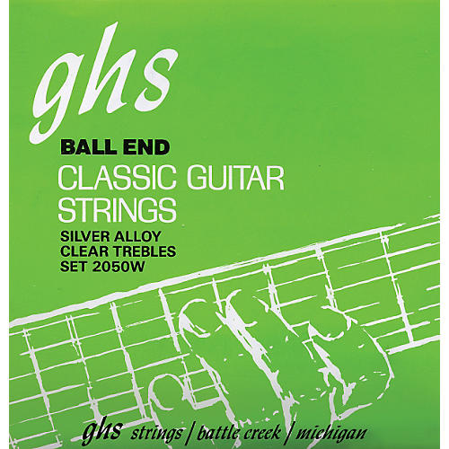 GHS Nylon and Silver Classical Guitar Ball End Strings-thumbnail