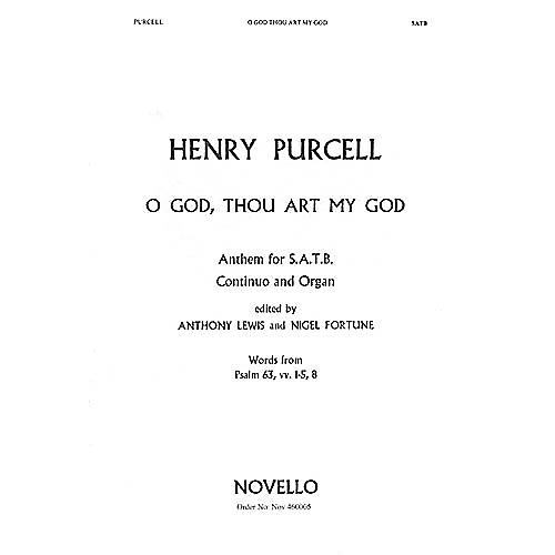 Novello O God, Thou Art My God SATB Composed by Henry Purcell