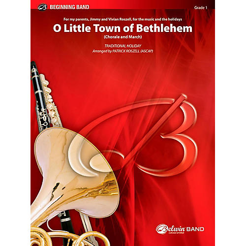 BELWIN O Little Town of Bethlehem Concert Band Grade 1 (Very Easy)-thumbnail