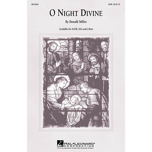 Hal Leonard O Night Divine SSA Arranged by Donald Miller