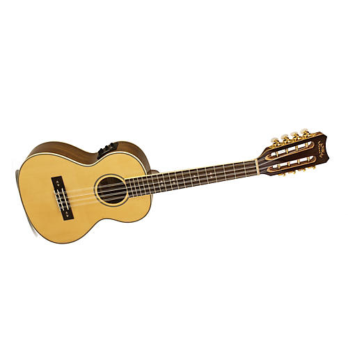 Lanikai O Series O-8EK Ovangkol 8-String Tenor Acoustic-Electric Ukulele with Fishman Kula Electronics Natural