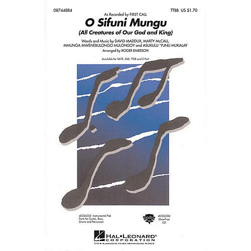 Hal Leonard O Sifuni Mungu RHYTHM SECTION PARTS by First Call Arranged by Roger Emerson
