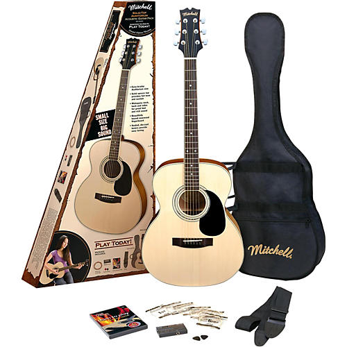 mitchell o120spk acoustic guitar value package natural guitar center. Black Bedroom Furniture Sets. Home Design Ideas