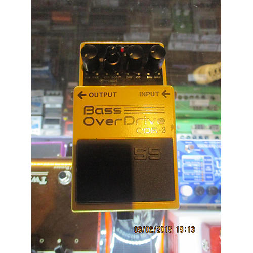 Boss ODB3 Overdrive Yellow Bass Effect Pedal-thumbnail