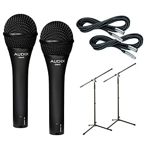 Audix OM-5 Microphone with Cable and Stand 2 Pack by Audix